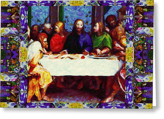 Bible Digital Art Greeting Cards - Window Into The Last Supper 20130130p28 Greeting Card by Wingsdomain Art and Photography
