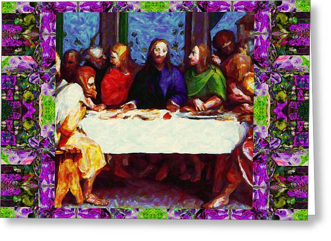 Bible Digital Art Greeting Cards - Window Into The Last Supper 20130130p68 Greeting Card by Wingsdomain Art and Photography