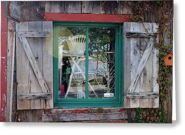 Covered Bridge Greeting Cards - Window Greeting Card by Karen Harris