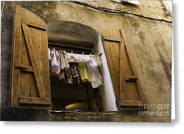 Window Decor Greeting Cards - Window Life 2 Greeting Card by Sophie De Roumanie