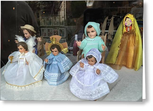 Toy Shop Greeting Cards - Window of Dreams Greeting Card by FlyingFish Foto