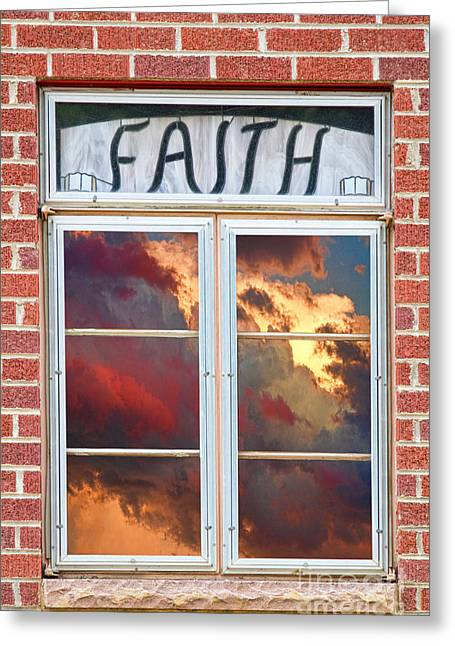 Christ Pictures Greeting Cards - Window of Faith Greeting Card by James BO  Insogna