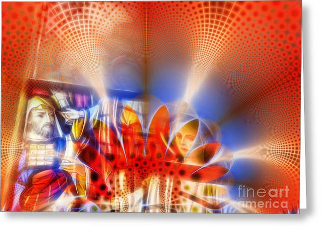 Algorithmic Abstract Greeting Cards - Window of Illusions Greeting Card by Ian Mitchell
