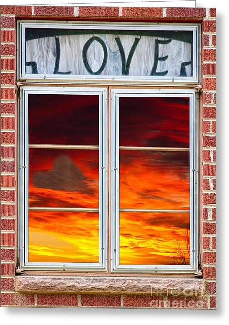 With Love Photographs Greeting Cards - Window Of Love Greeting Card by James BO  Insogna