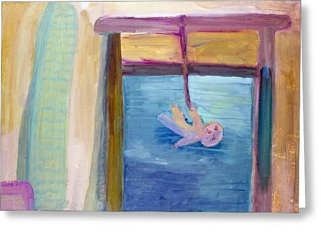 Window  Of My Childhood Greeting Card by Simonas Pazemeckas