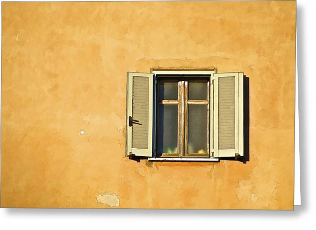 David Letts Greeting Cards - Window of Rome Greeting Card by David Letts