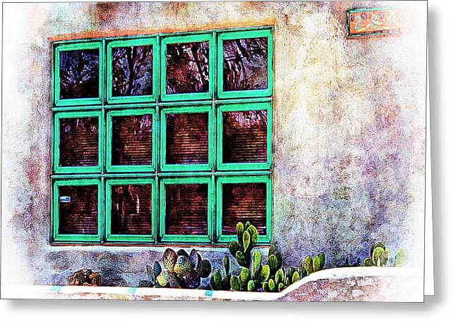 Las Cruces New Mexico Digital Art Greeting Cards - Window of the Southwest Greeting Card by Barbara Chichester