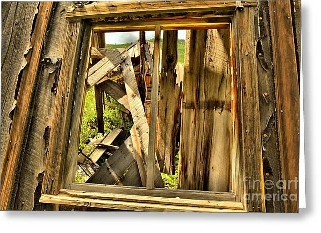 Ironton Greeting Cards - Window Of Time Greeting Card by Adam Jewell