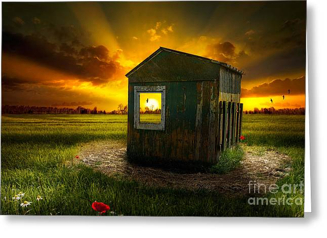 Cattle-shed Digital Art Greeting Cards - House of the Rising Sun Greeting Card by Michel Schamp