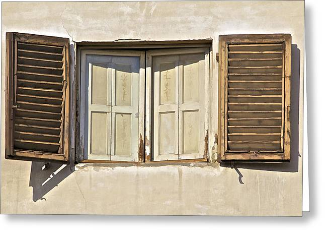 David Letts Greeting Cards - Window of Tuscany Greeting Card by David Letts