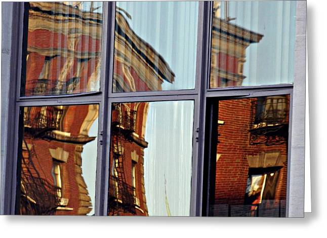 Washington Heights Greeting Cards - Window on the Heights Greeting Card by Sarah Loft