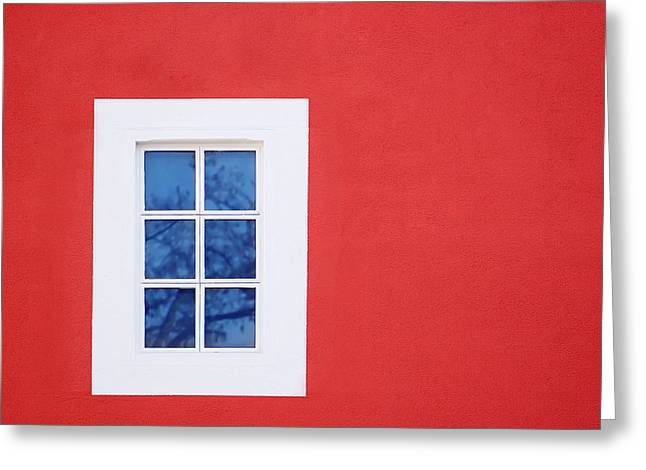 Concept Photographs Greeting Cards - Window Piece Greeting Card by Modern Art Prints
