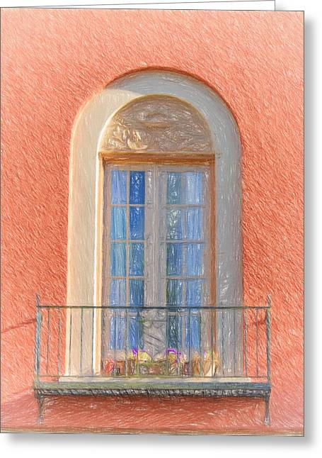 Window Reflection Greeting Card by Kim Hojnacki