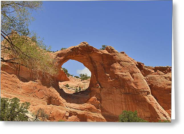 Dining Greeting Cards - Window Rock Arizona Greeting Card by Christine Till