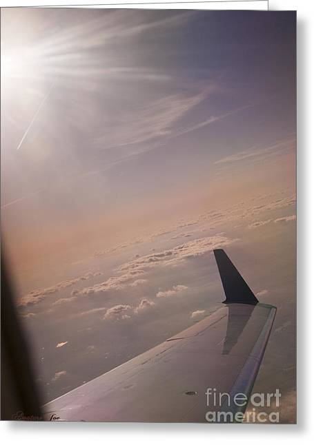 Wingtips Greeting Cards - Window seat Greeting Card by Joe Russell