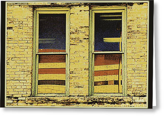 Framed Humorous Architectural Print Greeting Cards - Window Sediment Greeting Card by Joe Jake Pratt
