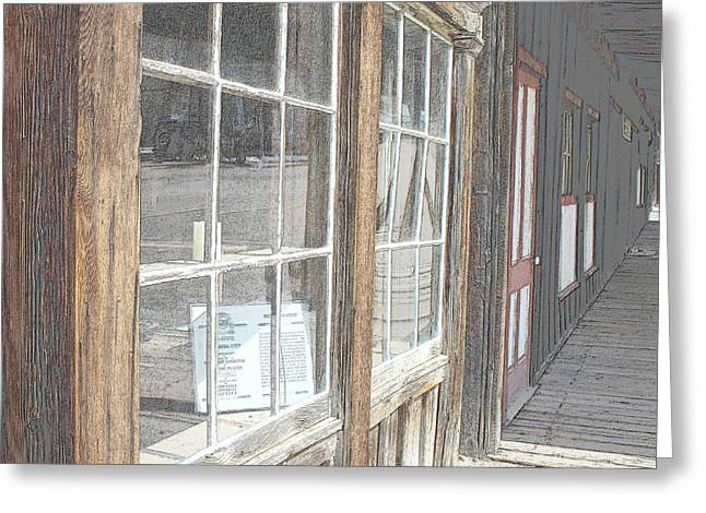Window Shopping          Colored Pencil Greeting Card by Mark Eisenbeil