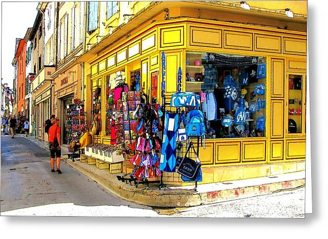 Urban Buildings Greeting Cards - Window Shopping Greeting Card by Douglas J Fisher