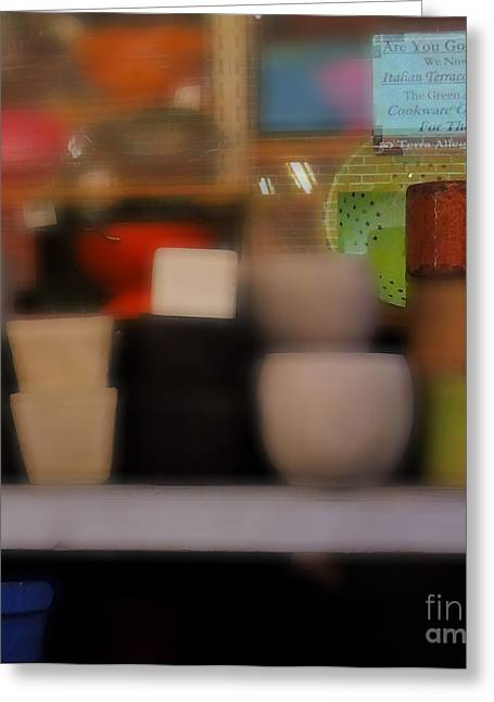 Boston Ma Greeting Cards - Window Shopping Greeting Card by Mim White