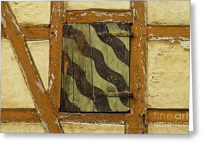 Swiss Culture Greeting Cards - Window shutter 2 Greeting Card by Heiko Koehrer-Wagner