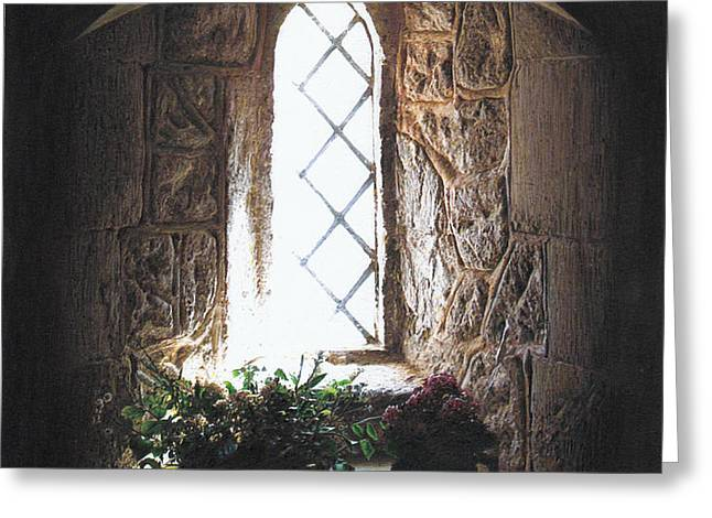 Window Solitude Greeting Card by Darren Baker