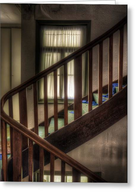 Haunted House Digital Greeting Cards - Window stairs Greeting Card by Nathan Wright