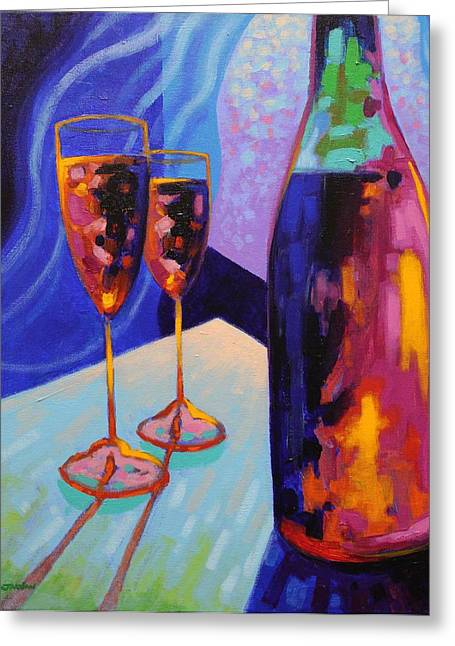 Wine Prints Greeting Cards - Window Still Life Greeting Card by John  Nolan