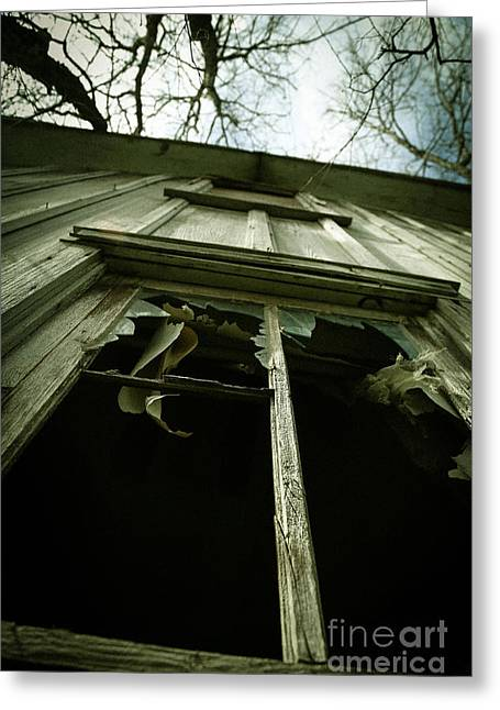 Evil House Greeting Cards - Window Tales Greeting Card by Trish Mistric