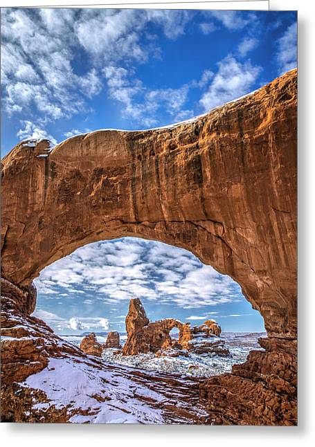 Southern Utah Greeting Cards - Window Through Time Greeting Card by Dustin  LeFevre