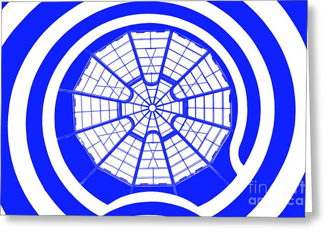 Guggenheim Greeting Cards - Window To Another World In Blue Greeting Card by Az Jackson