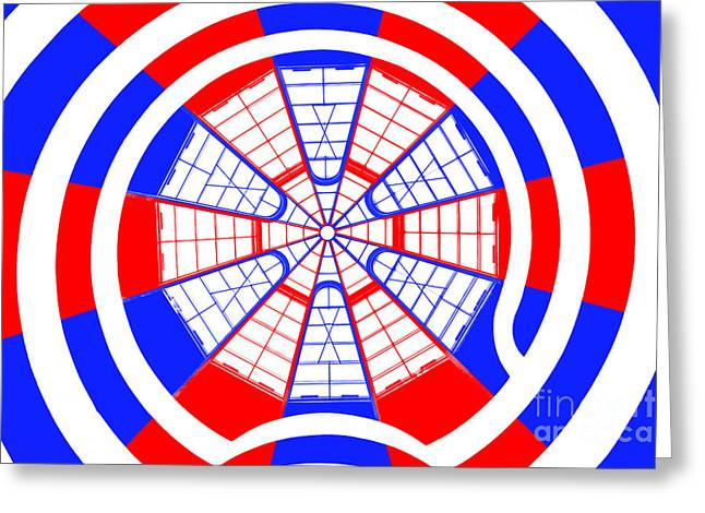 Guggenheim Greeting Cards - Window To Another World Kaleidoscope Greeting Card by Az Jackson