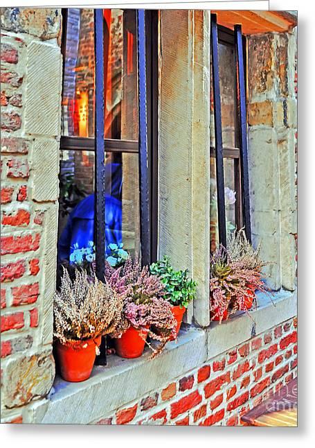 Outlook Greeting Cards - Window to Antwerp Greeting Card by Elvis Vaughn