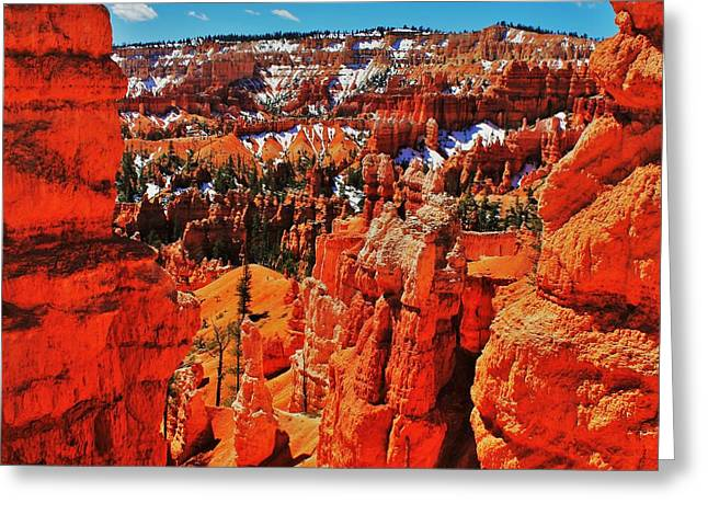 Window To Bryce Greeting Card by Benjamin Yeager