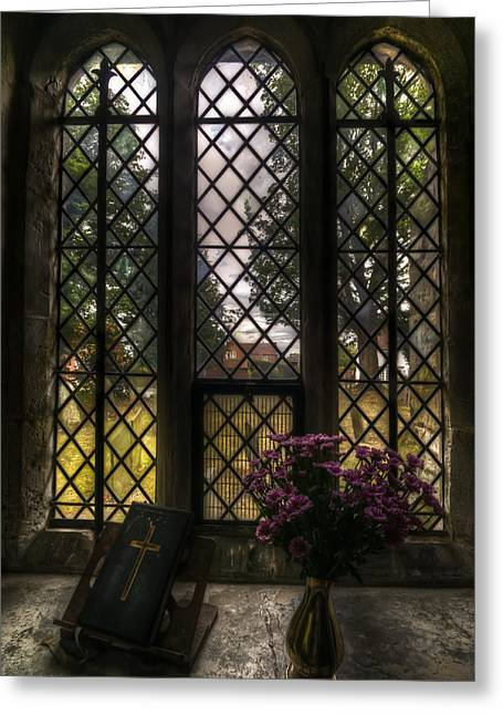 Sacred Digital Greeting Cards - Window to god Greeting Card by Nathan Wright