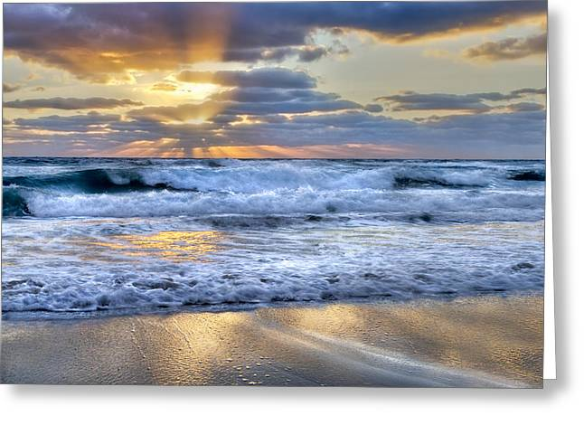 Hobe Sound Greeting Cards - Window To Heaven Greeting Card by Debra and Dave Vanderlaan