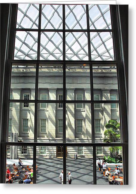 National Portrait Gallery Greeting Cards - Window To The Courtyard Greeting Card by Steven Ainsworth
