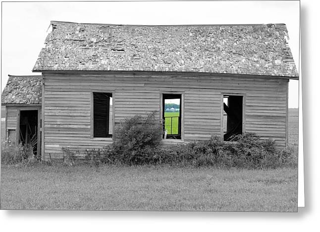Wooden Building Greeting Cards - Window To The Future Greeting Card by Bonfire Photography