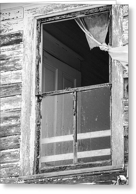 Tears Greeting Cards - Window to the Past Greeting Card by David M Porter