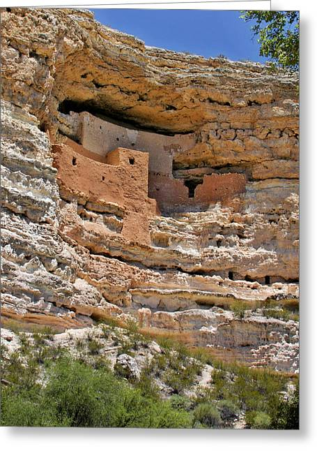 Cliff Greeting Cards - Window to the past - Montezuma Castle Greeting Card by Christine Till