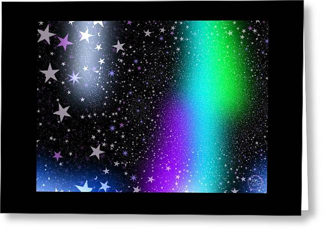Window To The Stars Greeting Card by Absinthe Art By Michelle LeAnn Scott