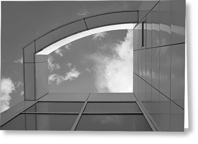 Des Moines Greeting Cards - Window to the Sun #4 - bw Greeting Card by Nikolyn McDonald