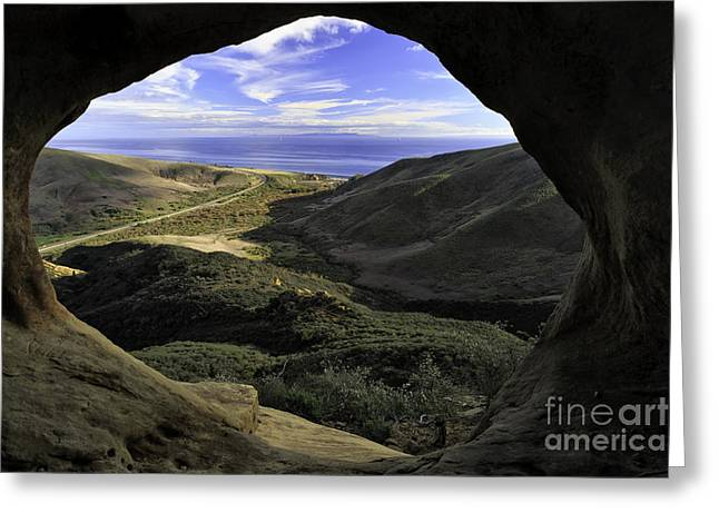 Beach In Santa Barbara Greeting Cards - Window to the World Greeting Card by Tim Hauf