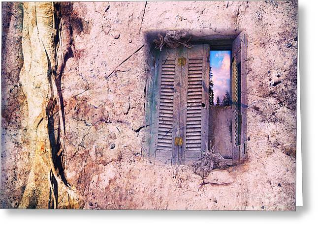 Souls Greeting Cards - Window To Your Soul Greeting Card by Viaina