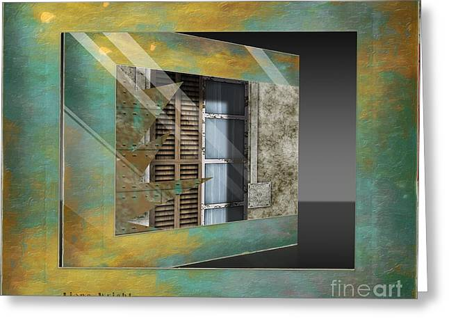 Industrial Concept Greeting Cards - Window Treatment Greeting Card by Liane Wright