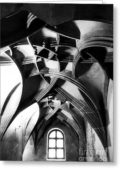 Popular Culture Greeting Cards - Window View Greeting Card by John Rizzuto