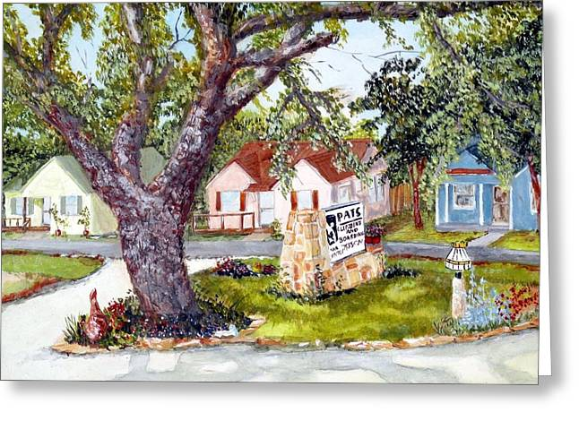 Fruit Tree Art Greeting Cards - Window View Greeting Card by Michael Dillon