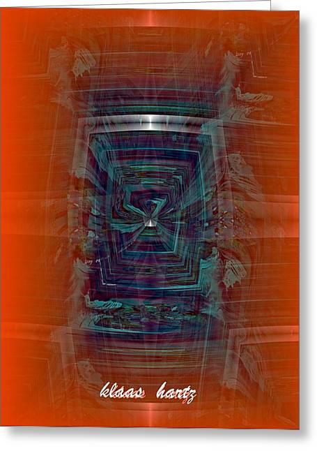 Window Of Life Mixed Media Greeting Cards - Window Views Greeting Card by Klaas Hartz
