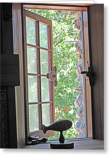 Window With A View Greeting Card by Barbara McDevitt