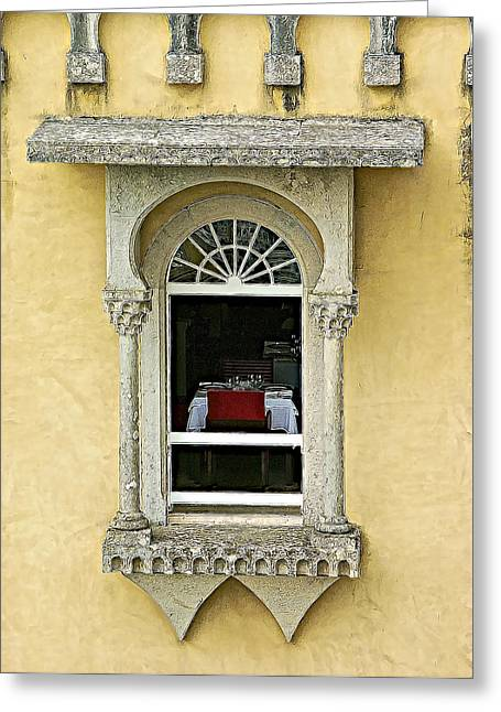 Window Seat Greeting Cards - Window with a View Greeting Card by David Letts