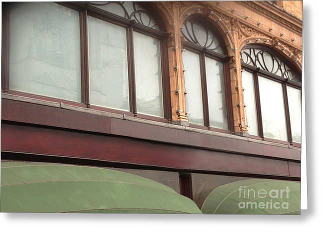 Harrods Greeting Cards - Windows and Awnings Greeting Card by Margie Hurwich
